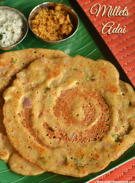 Thinai Varagu Adai Recipe