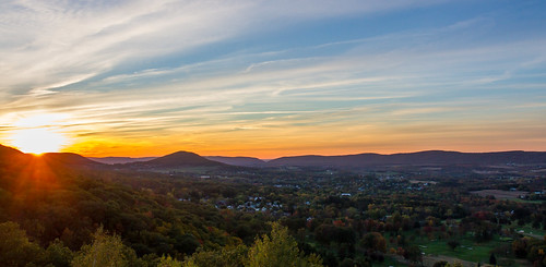 sunset panorama us unitedstates pennsylvania pa valley sugarloaf sugarloafmountain conyngham topofthe80s