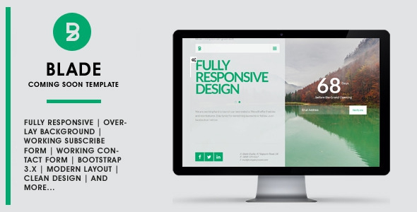 Themeforest BLADE - Responsive Coming Soon Template