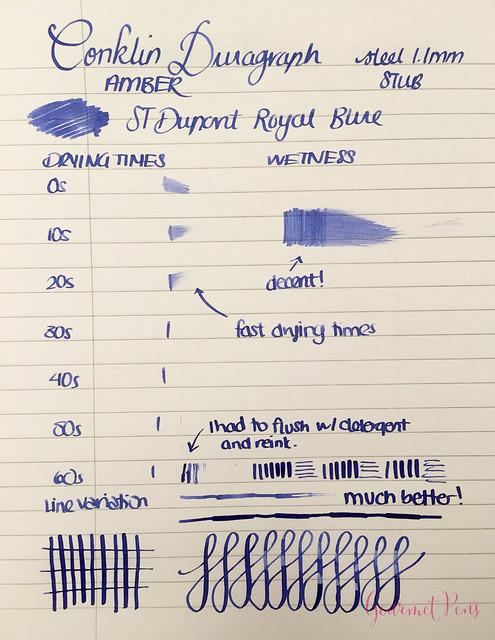 Review Conklin Duragraph Fountain Pen - 1.1 mm Stub @GouletPens (19)