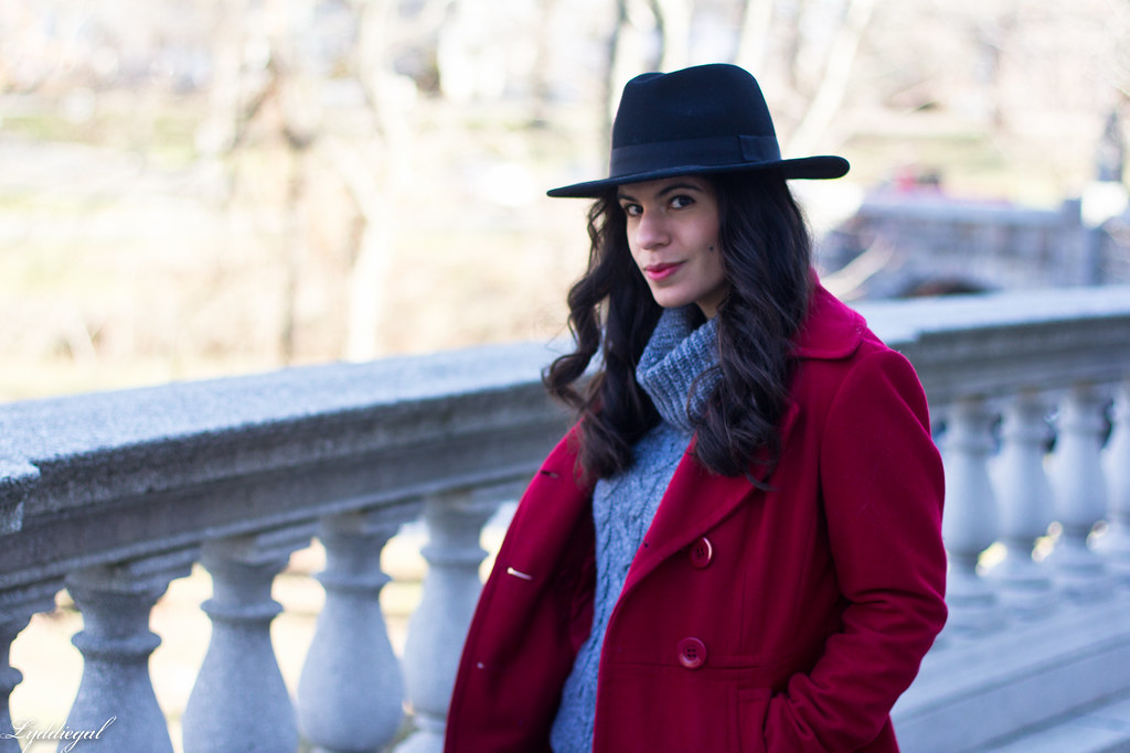 grey sweater, black denim, red peacoat, fedora-3.jpg