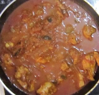 Chicken biriyani steps 11 Chicken curry