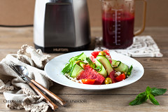 Beetroot Gaspacho with watermelon
