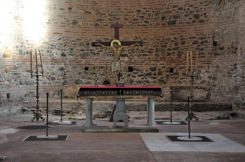 Ιερό βήμα ναού Αγ. Γεωργίου - The Holy step of St. Georgios temple (Rotunda)