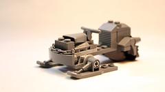 LEGO Apocalypse style snowmobile