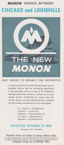 Monon 1965 Cover