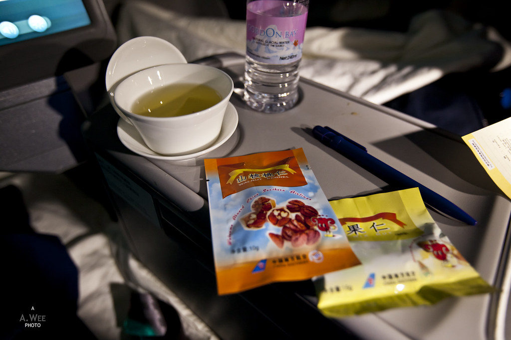 Snacks onboard the flight