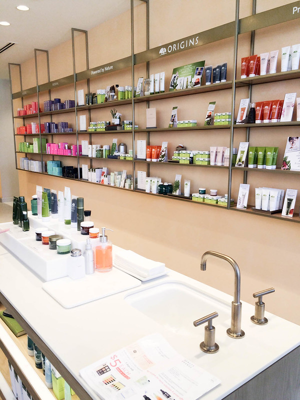 cute & little blog | beauty brands addison dfw store | origins counter