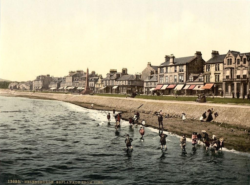 Esplanade from pier, Helensburgh, Scotland