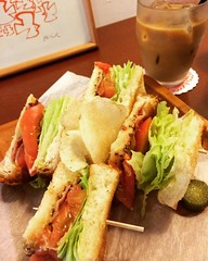 blt & iced cafe au lait #elkkaffe #osaka #japan