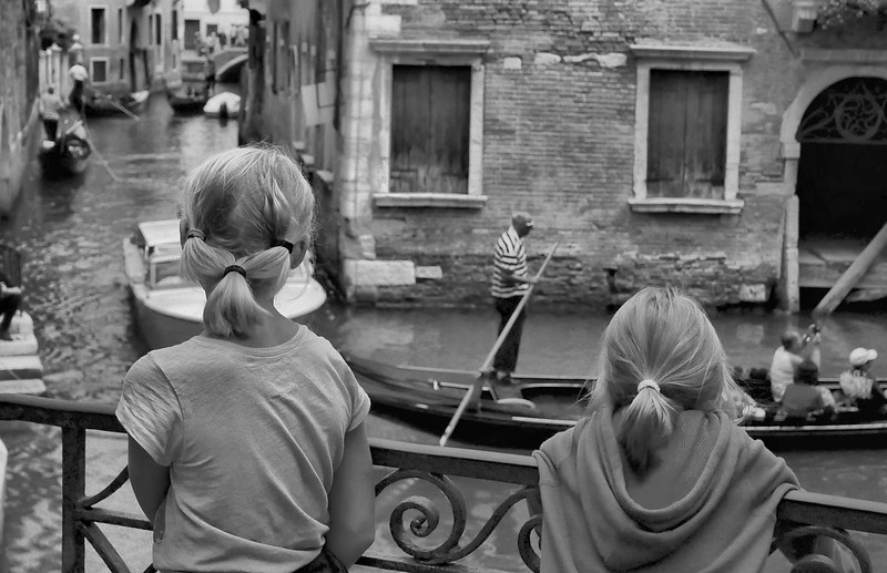 two girls watching Gondola