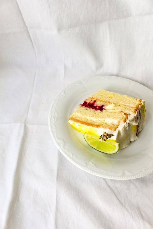 Linden and lemon cake