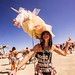 DSC01957 - Girl with Unicorn - Burning Man 2015