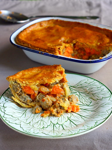 Sausage & sweet potato pie