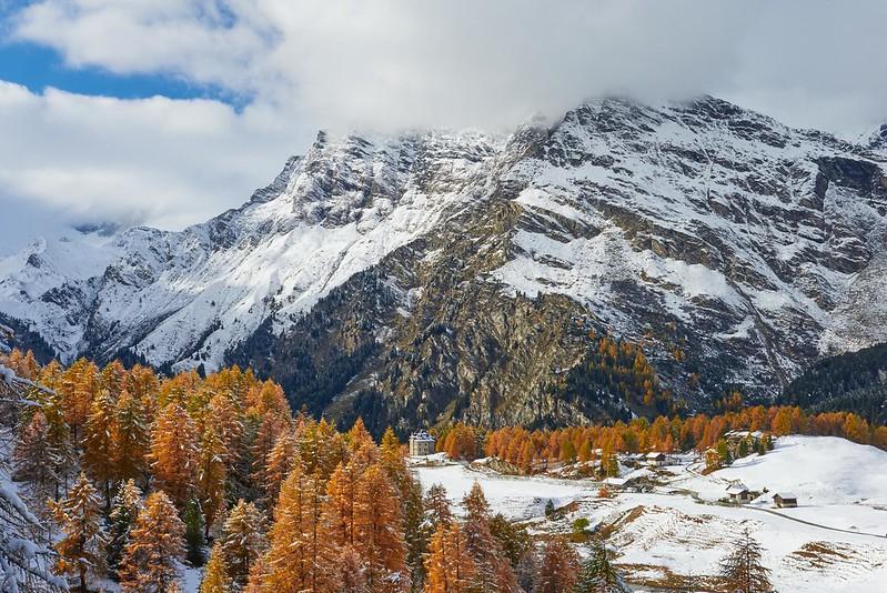 Snow covered - Maloja Pass