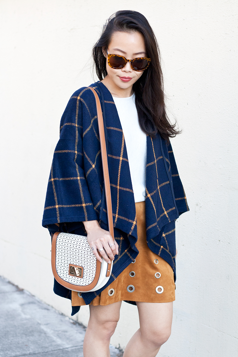 05-plaid-poncho-suede-grommet-skirt