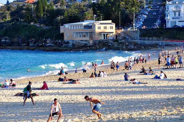 Beach Goers at Coogee Beach Sydney