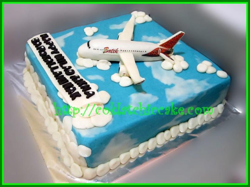 Cake Pesawat Batik  Air