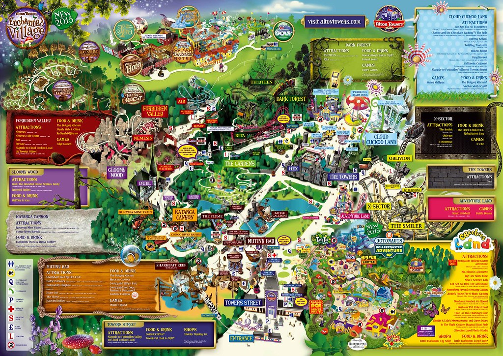 Alton Towers Map Staffordshire England Mapcarta