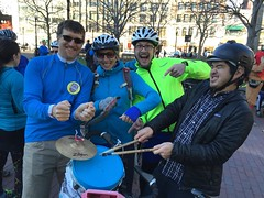 The amazing Greg Hum kept the beat for our team during Cranksgiving