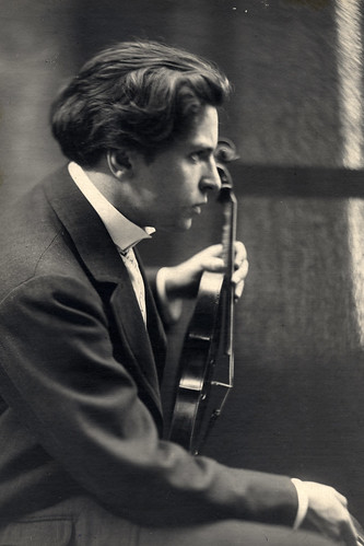 George Enescu in action.