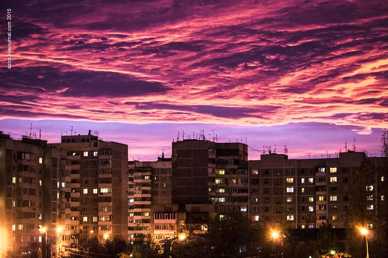 Закат. Краснодар. Ноябрь 2015
