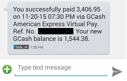 Black Friday shopping with Gcash American Express Virtual Pay
