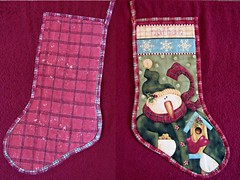 Christmas Stocking, front and back