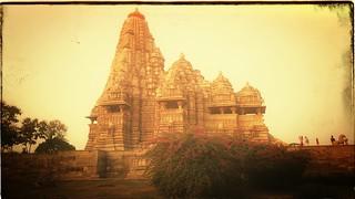 Khajuraho Temple, sunset