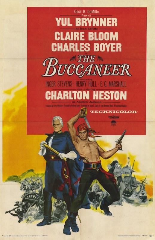 The Buccaneer - 1958 - Poster 2