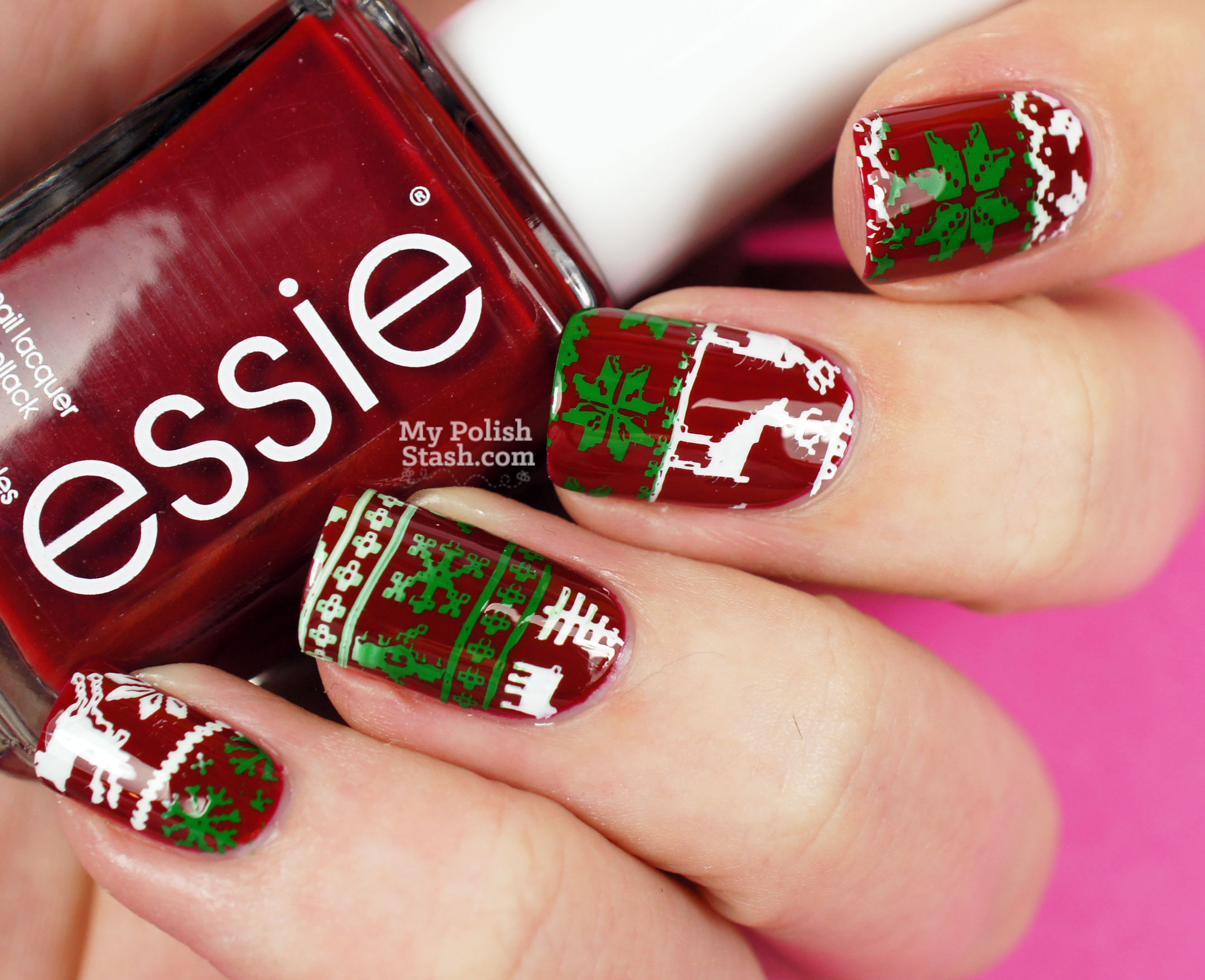 ugly-christmas-sweater-nails-1