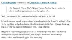 Great Wall of Trump comment