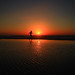 Running on the beach at sunset - Tel-Aviv by Lior. L