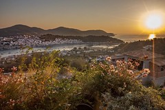 Good morning Poros Island from Galatas, Greece #travel #greece #island