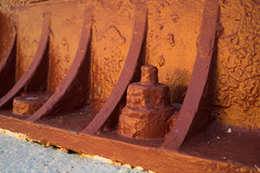 Detail of Andenes lighthouse - cast iron construction from 1859.