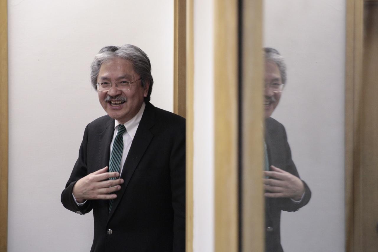 曾俊華在選委會選舉前較清晰表達參選特首意向,有助穩定支持者軍心。(鍾偉德攝)