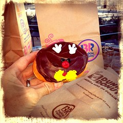 Don't be alarmed kids, but I just ate Rudolph The Red Nosed Doughnut.  #doughnuts