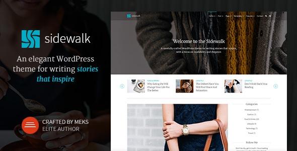 Sidewalk v1.1.1 – Elegant Personal Blog WordPress Theme