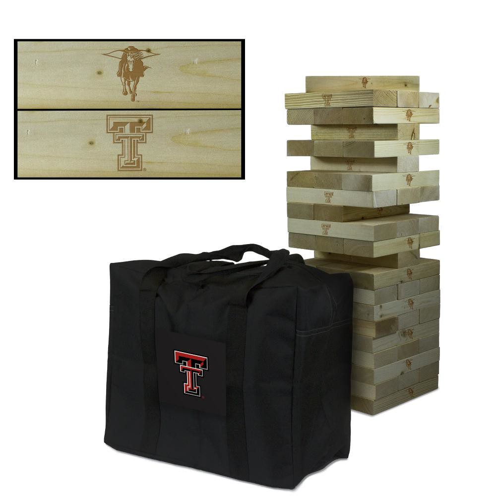 Texas Tech Red Raiders Wooden Tumble Tower Game