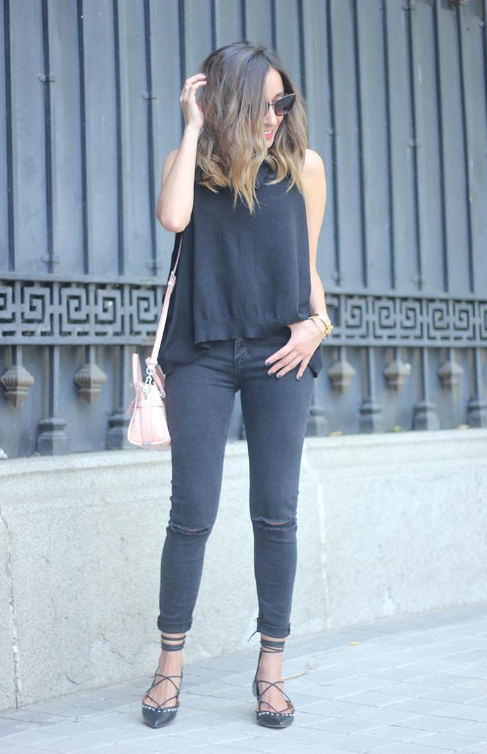 Lace Up Flats Black Jeans Top Hoss Intropia Coach Bag Aristocrazy19