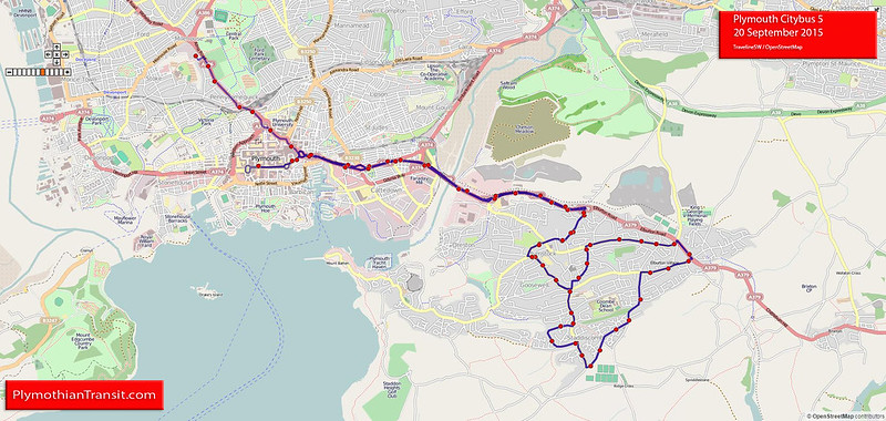 Plymouth Citybus Route-5