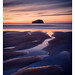 The Bass Rock from Seacliff Beach by NorthernXposure