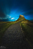 Lindisfarne castle under moonlight by kris greenwell