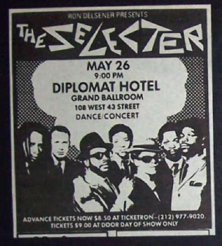 05/26/80 The Selector @ Hotel Diplomat, NYC, NY