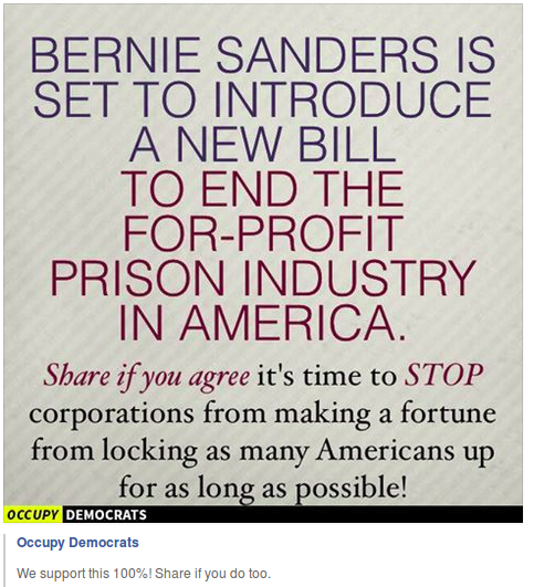 occupy democrats against for profit prisons