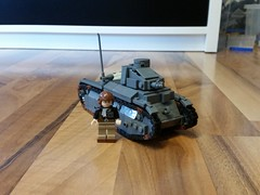 Lego ww2 renault D2 1:45  Hope you like this! -Louis;-)