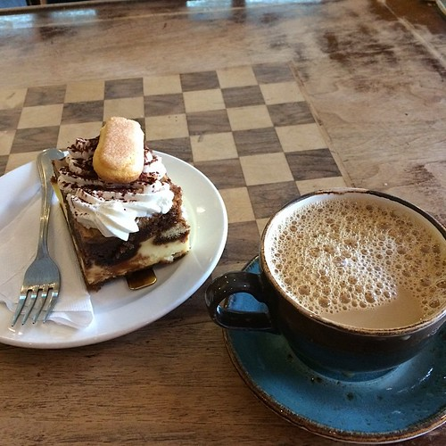 Coffee and tiramisu #yegfood