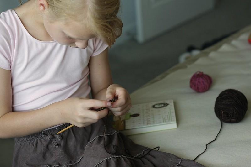K knitting