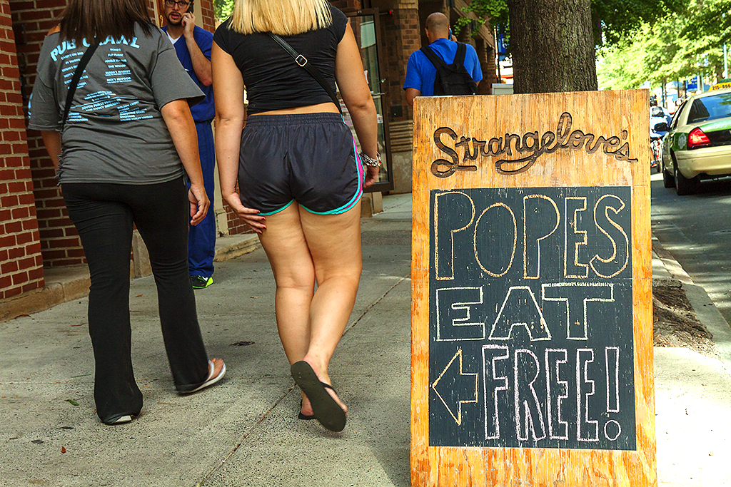 POPES EAT FREE--Center City
