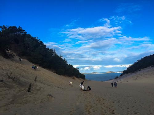 Die Sanddünen in Rainbow Beach